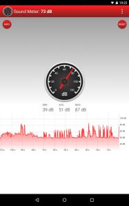 Aplicación Sound meter
